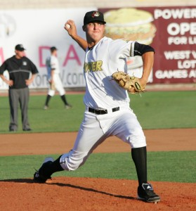 Jameson Taillon, during his pro debut with West Virginia in 2011.
