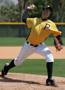 Tyler Glasnow struck out eight and touched 97 miles per hour in West Virginia's loss to Hagerstown on Sunday.