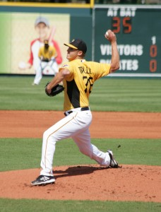 Jameson Taillon is starting in the Double-A game today.