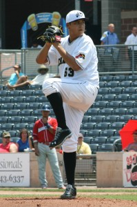 Luis Heredia pitched well against Hagerstown during the regular season (Photo Credit: Nick Scala)