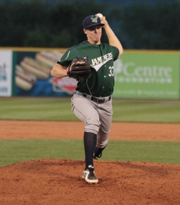 Cody Dickson had a great start to his pro career in Jamestown. (Photo Credit: Mark Olson)