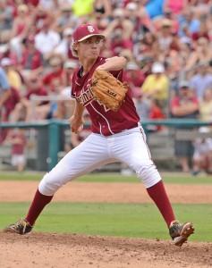 Luke Weaver allowed just one hit on Friday night - Image Credit: Florida State University
