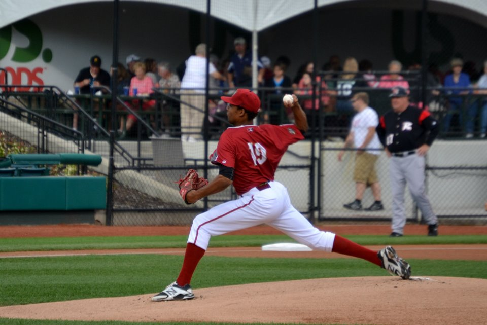 Sanchez made his debut in the Pirates system on Sunday (photo credit: Donald Lancaster)