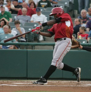 Tejeda had three hits last night, including his first home run