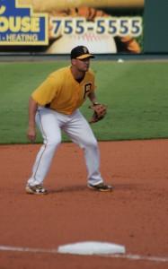 Gaby Sanchez playing third base.