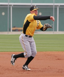 Brett Carroll, who was signed as a minor league free agent, was taking grounders at third. Carroll has spent the majority of his time in the outfield, but has played 33 minor league games at third.