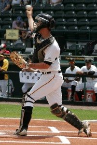Jacob Stallings was the top hitter in the minor league system this week.