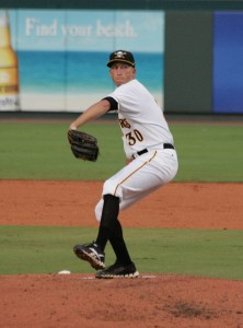 Pat Ludwig gave up one run in seven innings tonight.