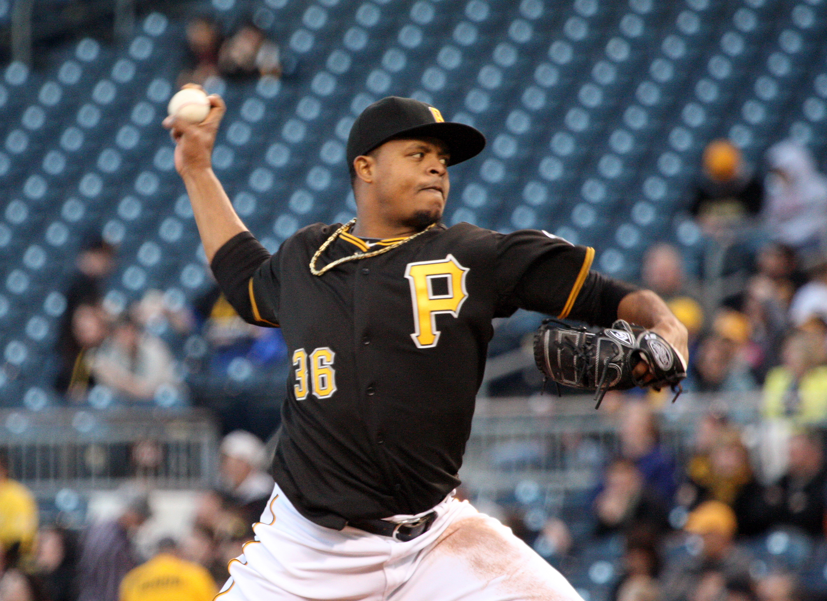 Volquez's best season came in 2008, when he won 17 games and struck out 206 batters. (Photo Credit: David Hague)