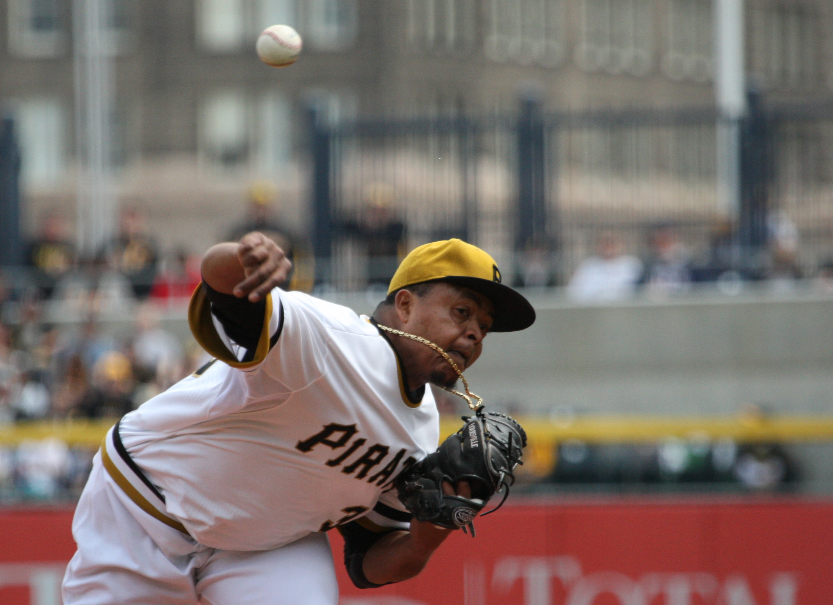 Volquez started strong, with a 1.93 ERA in his first four starts, but allowed six runs in each of his last two outings. (Photo by: David Hague)