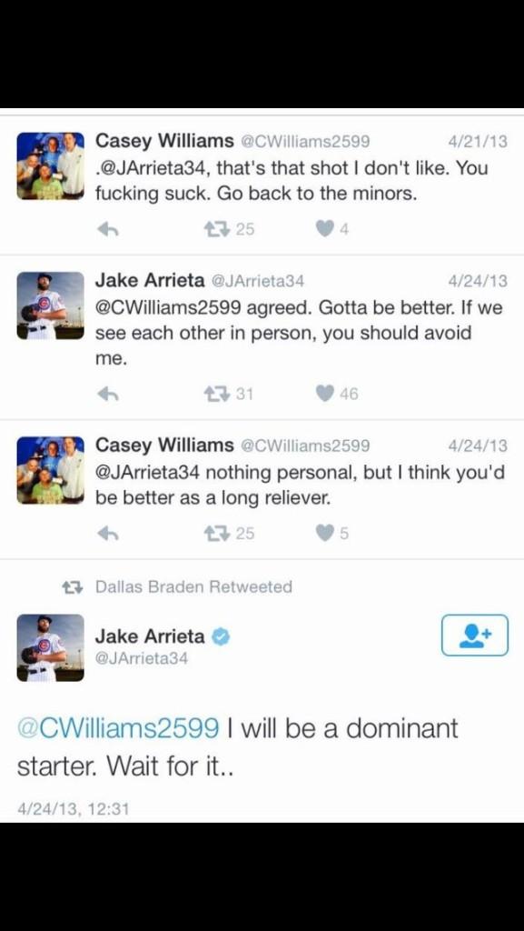 Jake Arrieta Talks to a Twitter troll